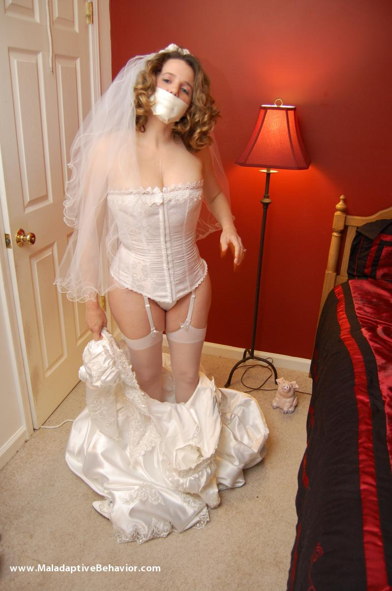 brides tied to a bed